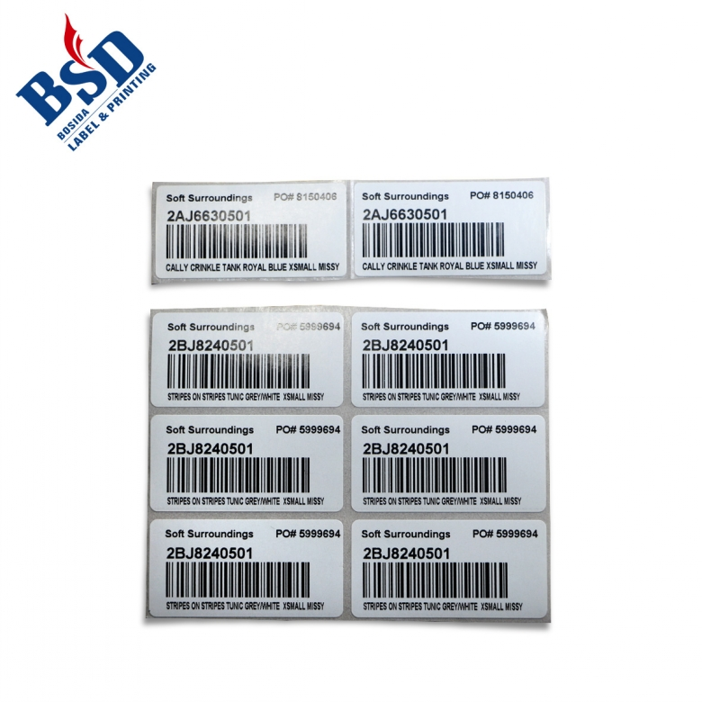 Hangtag UPC Sticker, Barcode labels tags